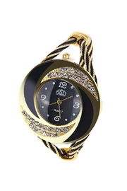 Adore Clothes & More Black Gold Watch - Product Mini Image