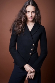 Smythe Black Goldbutton Blazer - Product Mini Image