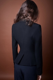 Smythe Black Goldbutton Blazer - Front full body