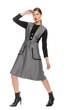 Modaliani Black & Gray Knit Dress - Product List Image