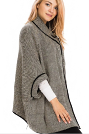Magic Scarf Black-Gray Tweed Cloak - Front full body