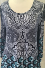 Lynn Ritchie Black, grey and teal tunic - Product Mini Image