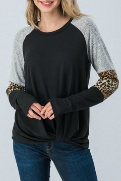 Trend:notes Black/grey Leopard-Print Top - Product List Image