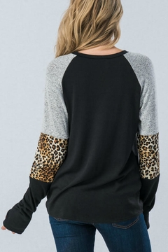 Trend:notes Black/grey Leopard-Print Top - Alternate List Image