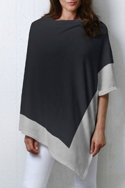 Whimsy Rose Black Grey Slub Poncho - Product Mini Image