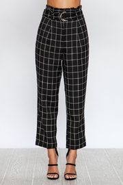 Love Tree Black Grid Pants - Product Mini Image