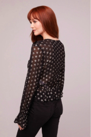 Band Of Gypsies Black Heart Blouse - Front full body