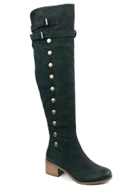 AMS Pure Black Heeled Boots - Product Mini Image