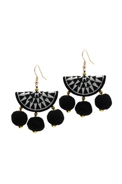 Shoptiques Product: Black Hermosa Earring