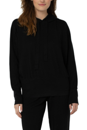 Liverpool Black Hoodie - Front full body