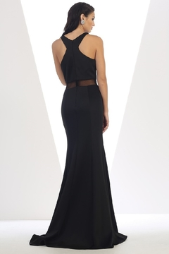 May Queen  Black Illusion Long Formal Dress - Alternate List Image