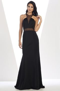 May Queen  Black Illusion Long Formal Dress - Product List Image