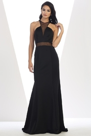 May Queen  Black Illusion Long Formal Dress - Product Mini Image
