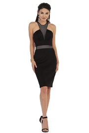 May Queen  Black Illusion Short Dress - Product Mini Image