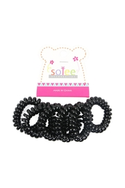 Riah Fashion Black-Infinity Spring-Hair-Ties - Product Mini Image