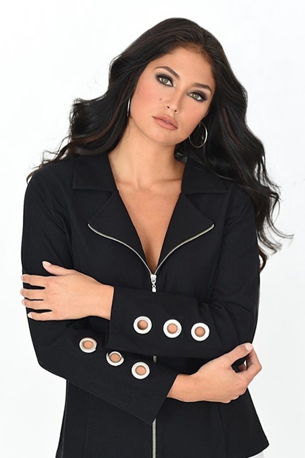French Kyss Black Jacket - Front Cropped Image