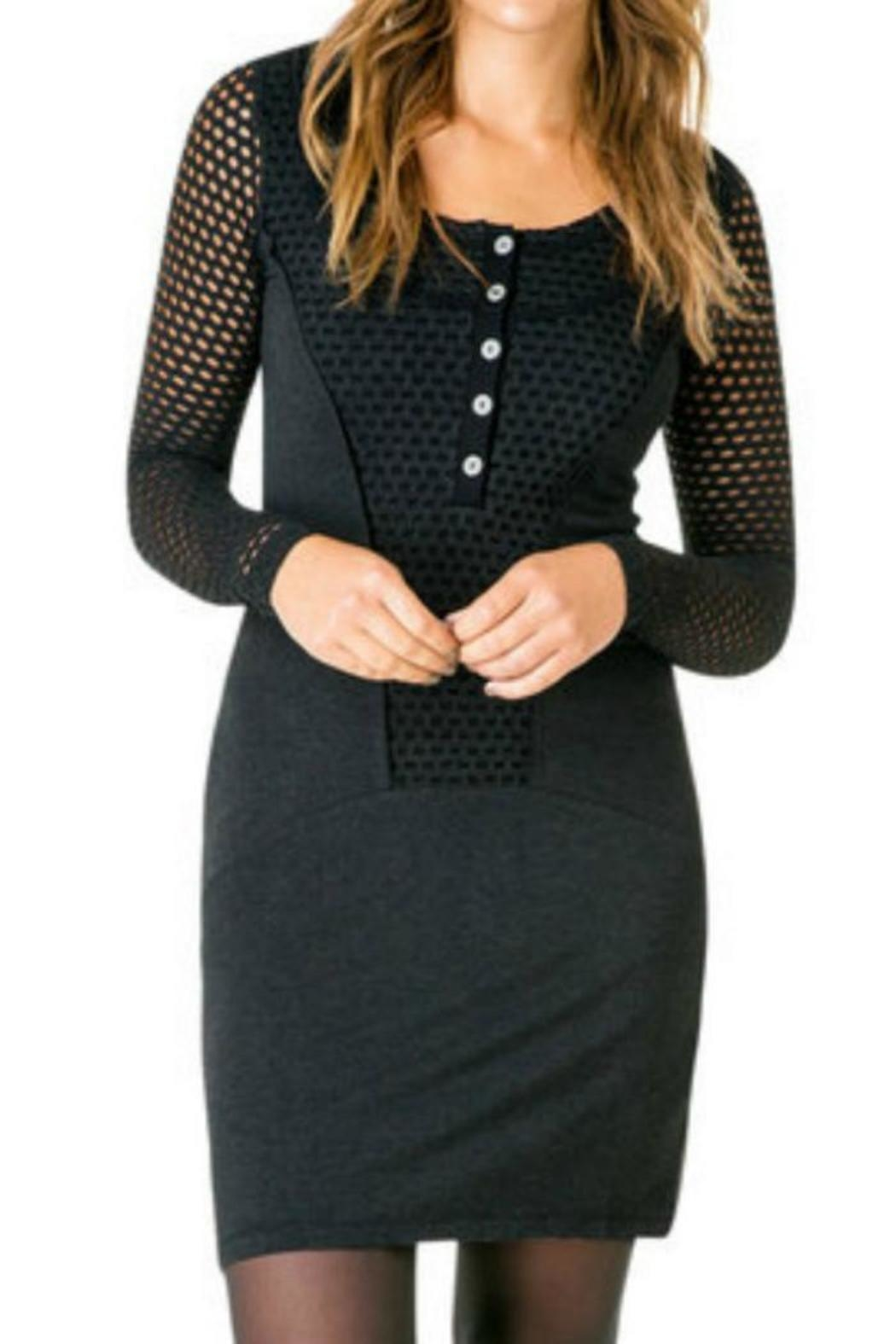 Yest Black Jersey Dress - Front Cropped Image