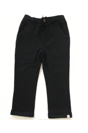 Me & Henry Black Jersey Pants - Front cropped