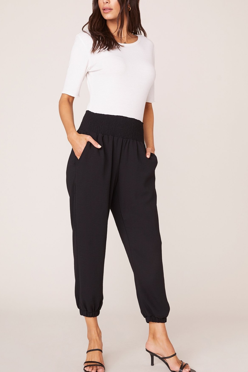 Jack by BB Dakota Black Jogger Pant - Back Cropped Image