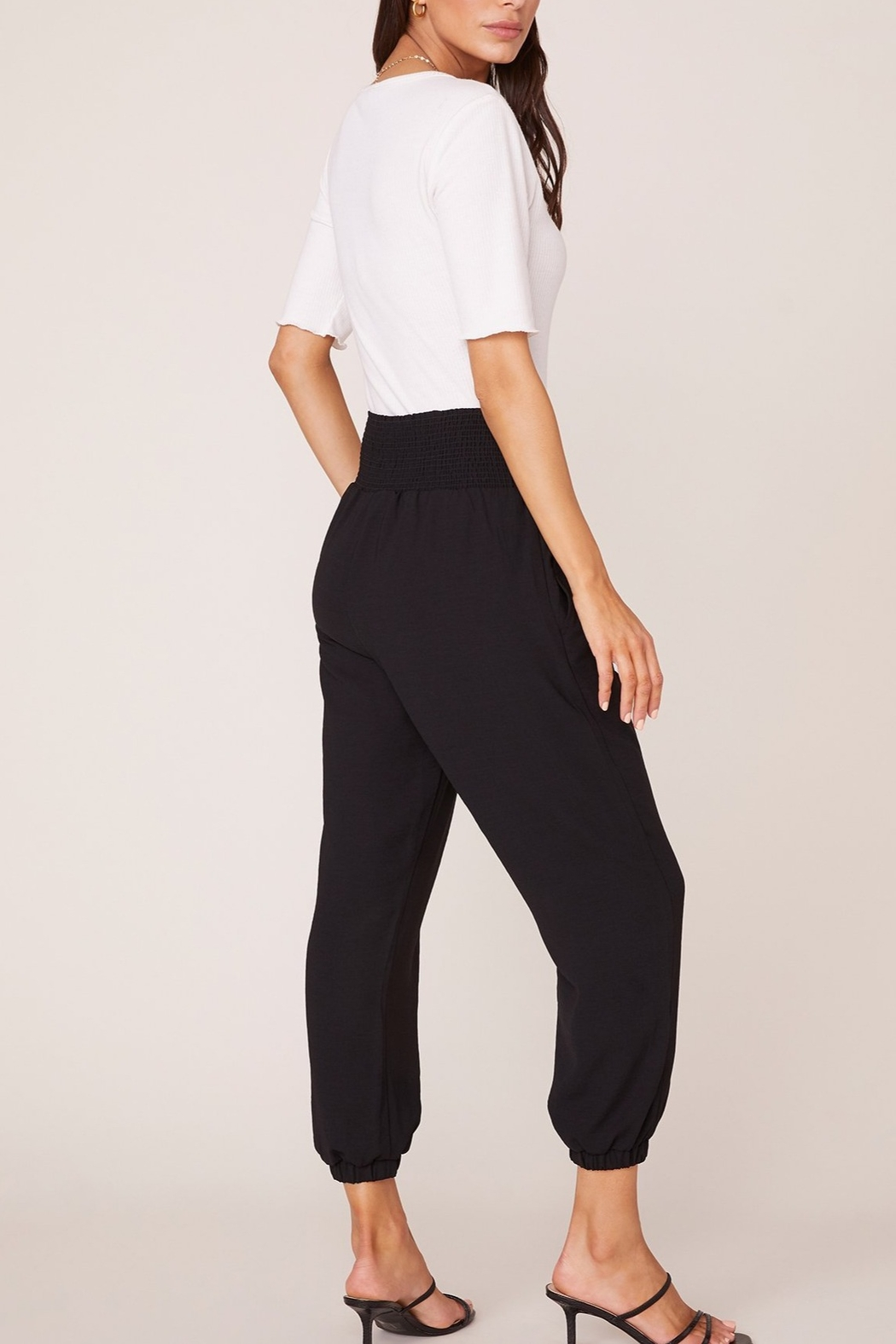 Jack by BB Dakota Black Jogger Pant - Side Cropped Image