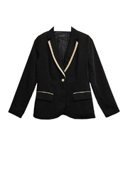 Blu Pepper Black Khaki-Trim Blazer - Product Mini Image