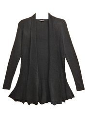 Vivid Black Knit Cardigan - Product Mini Image