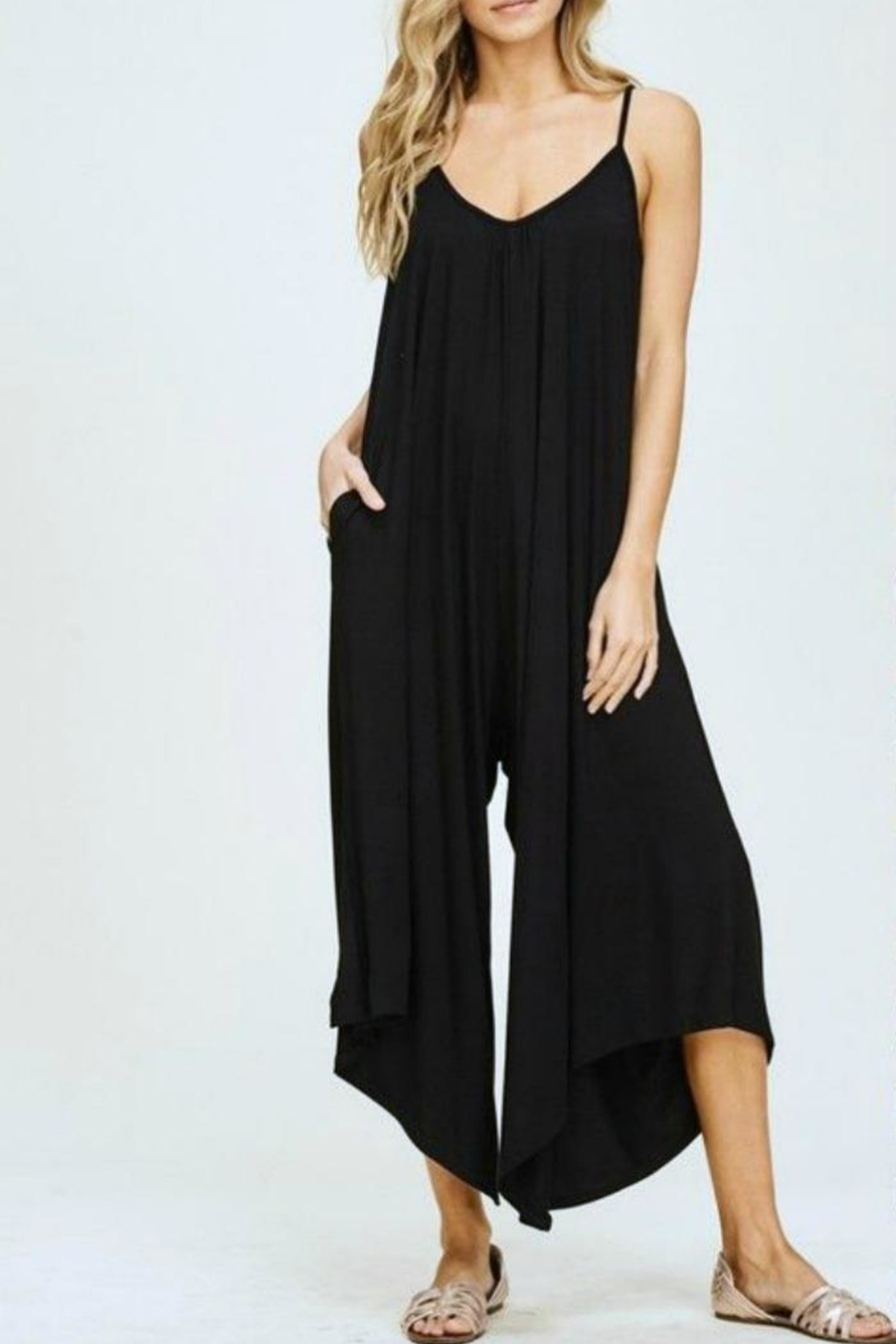 Simply Chic Black Knit Jumpsuit - Main Image