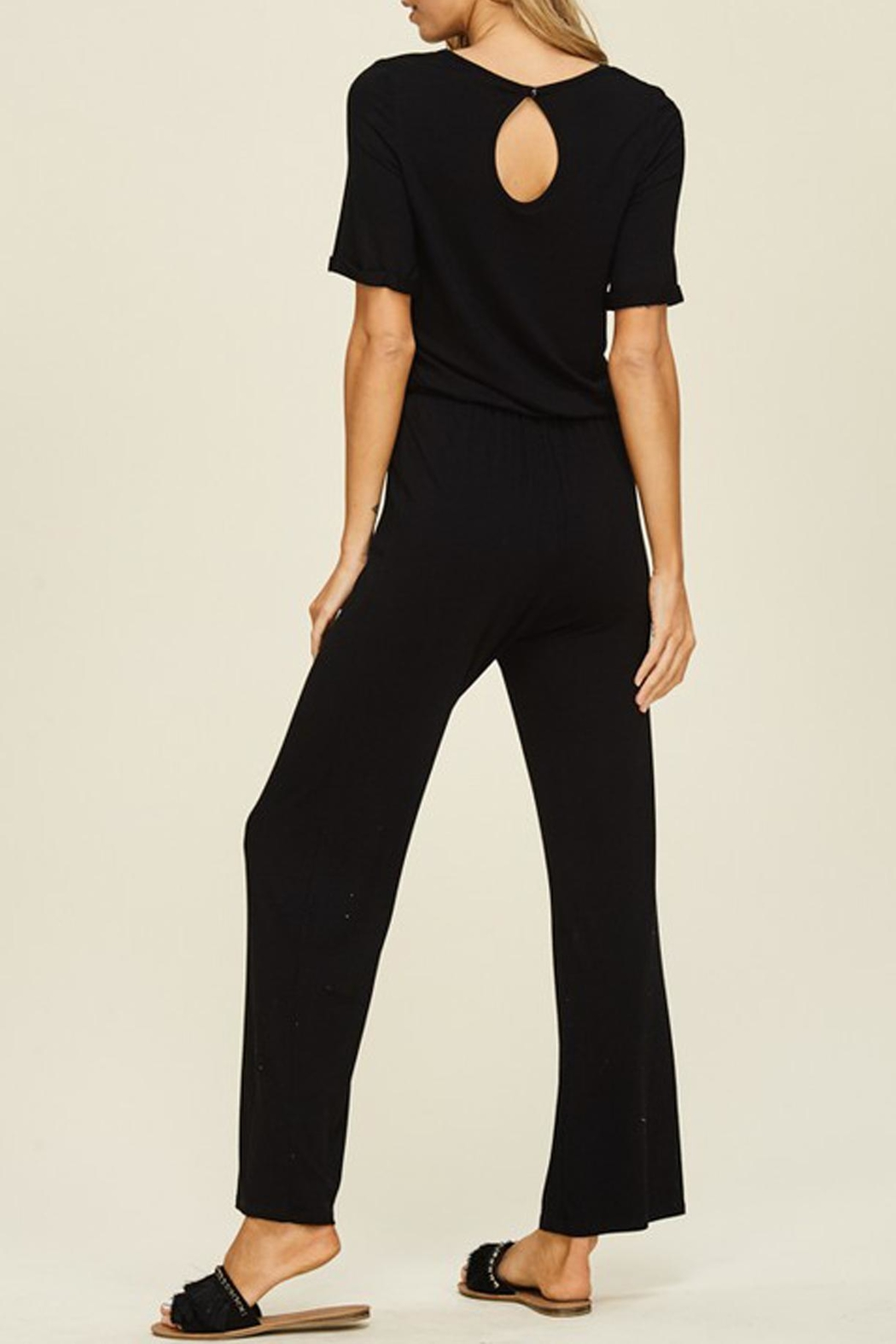 annabelle Black Knit Jumpsuit - Front Full Image