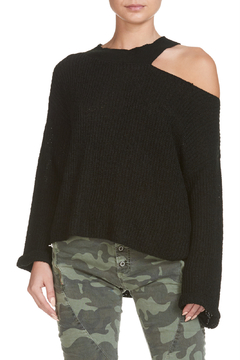 Elan Black Knit One Shoulder - Alternate List Image