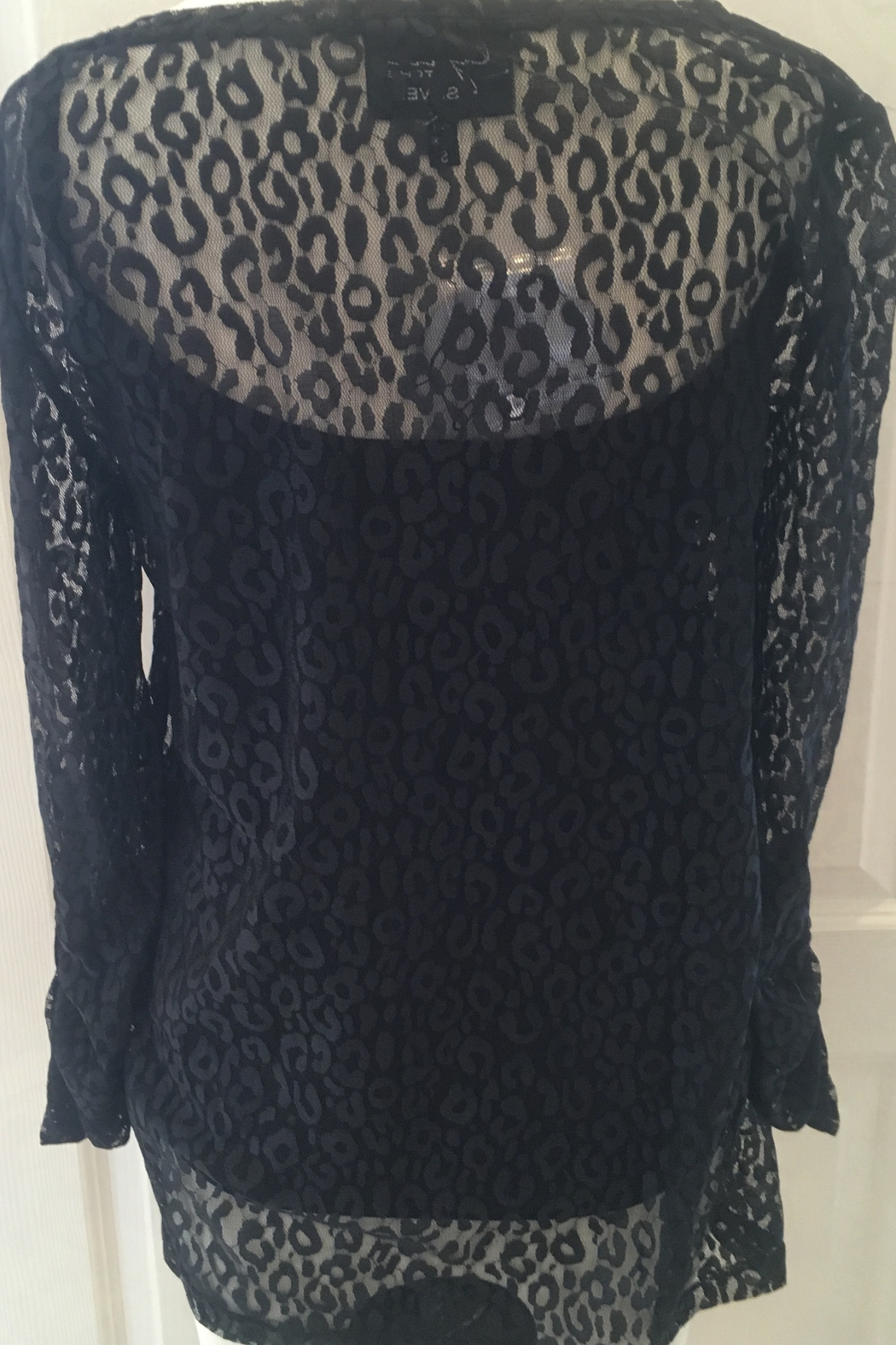 Lynn Ritchie Black lace 2-piece tunic top - Front Full Image