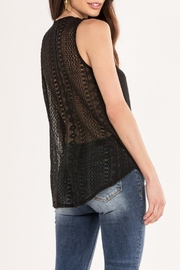 Miss Me Black Lace-Back Swing-Tank - Front cropped