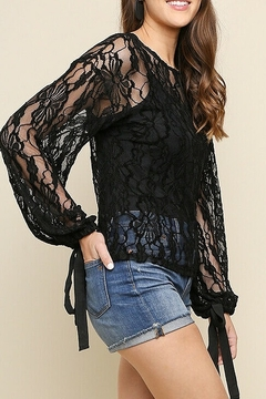 Umgee USA Black Lace Bell Top - Product List Image