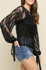 Umgee USA Black Lace Bell Top - Product Mini Image