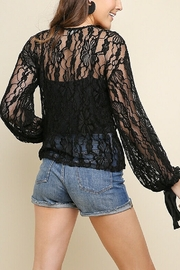 umgee  Black Lace Bell Top - Front full body