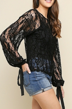 umgee  Black Lace Bell Top - Product List Image