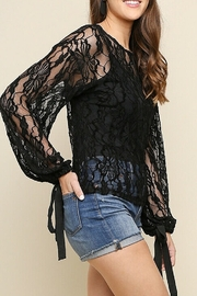 umgee  Black Lace Bell Top - Product Mini Image