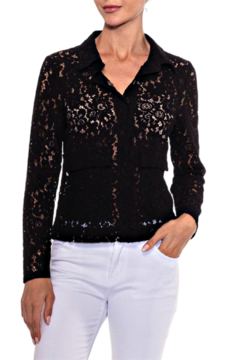 Alison Sheri Black Lace Blouse - Product List Image
