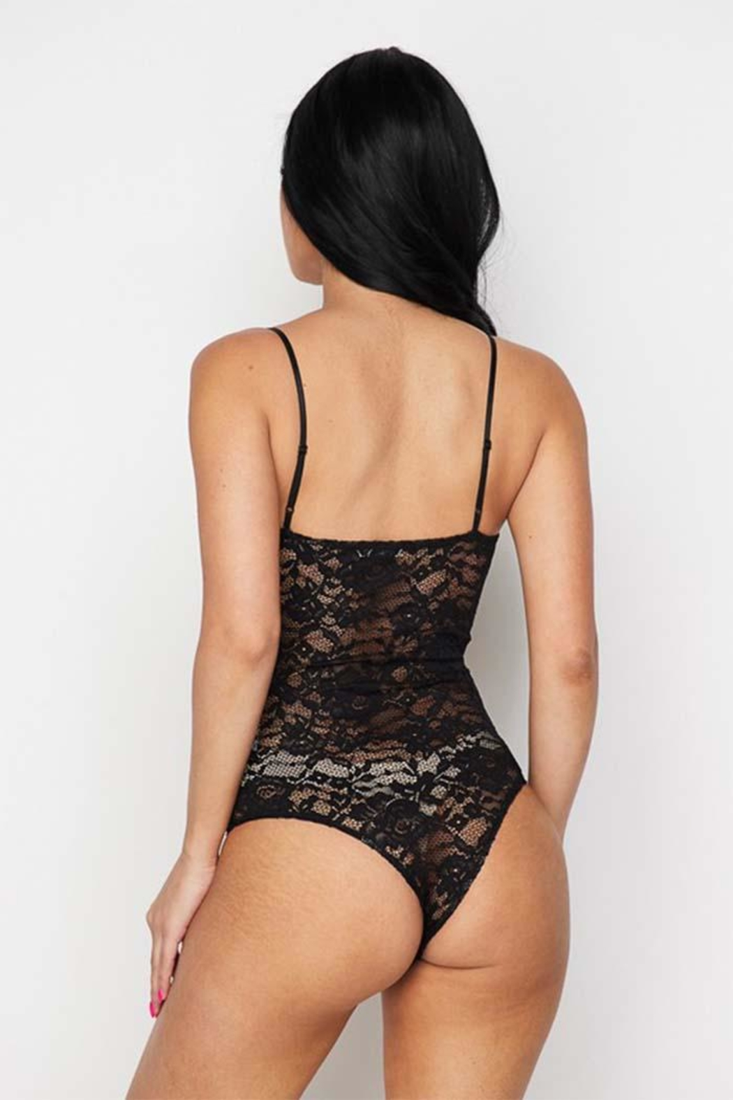 Better Be Black Lace Bodysuit - Side Cropped Image