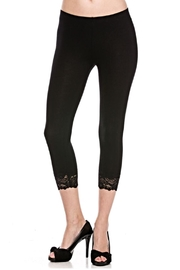 Bozzolo Black Lace Capri - Product Mini Image