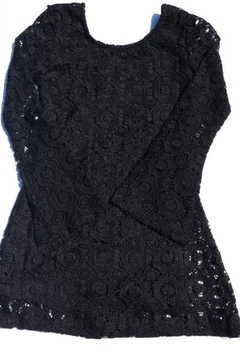 Butterflies & Zebras Black Lace Dress - Product List Image