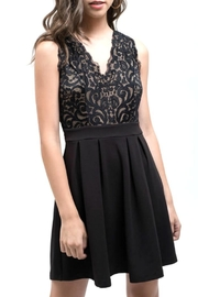 Blu Pepper Black Lace Dress - Product Mini Image