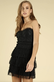Wild Honey Black Lace Dress - Front cropped