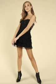 Wild Honey Black Lace Dress - Front full body