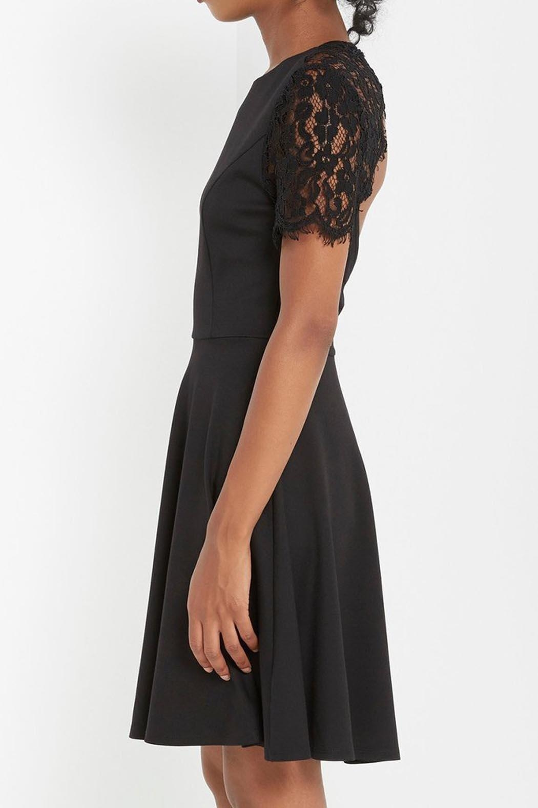 Soprano Black Lace Dress - Side Cropped Image