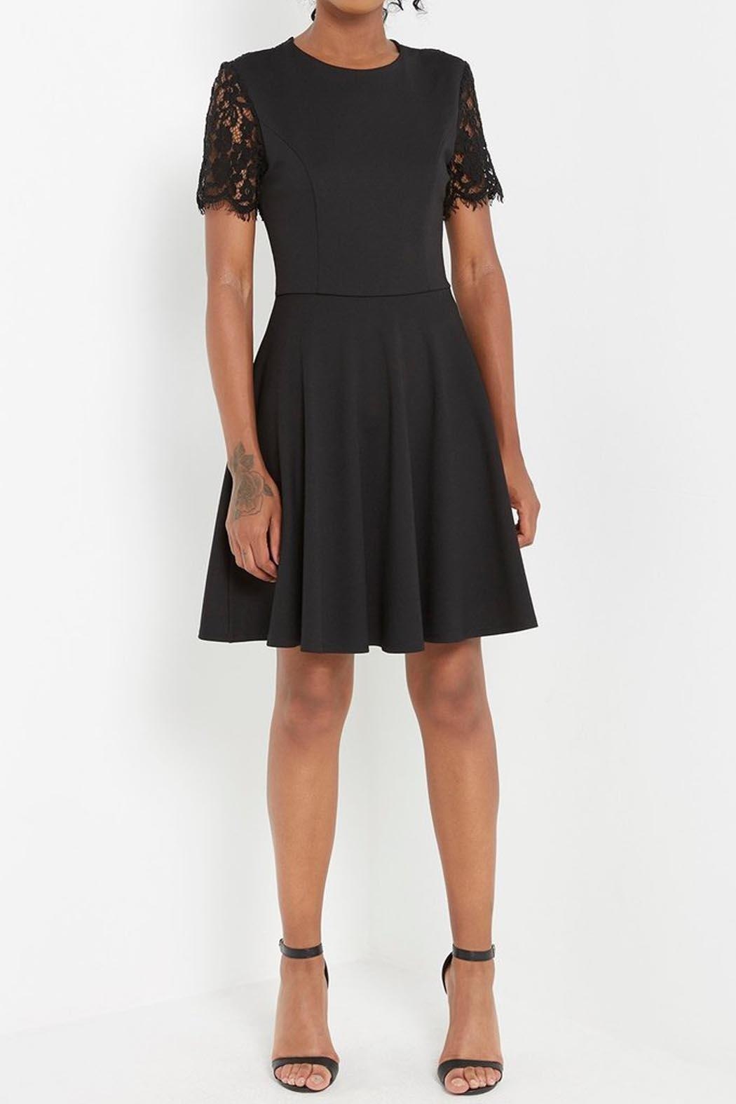 Soprano Black Lace Dress - Front Cropped Image