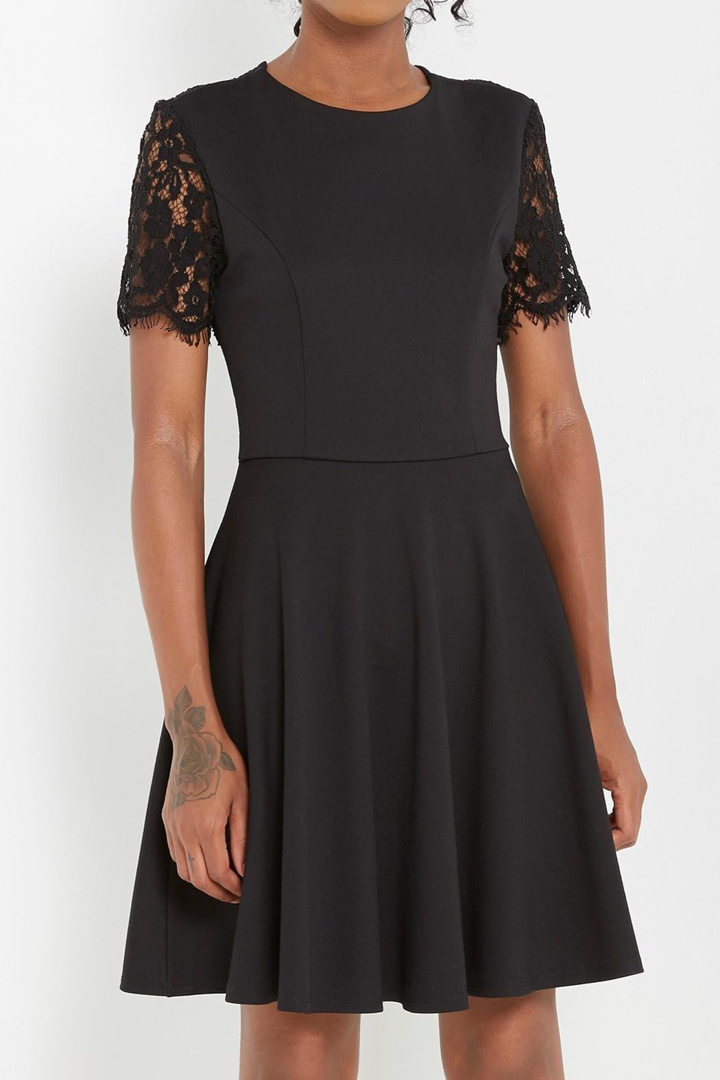 Soprano Black Lace Dress - Front Full Image