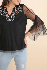 Umgee USA Black Lace Embroidered-Blouse - Product Mini Image