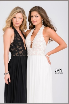 Jovani PROM Black Lace Gown - Product List Image