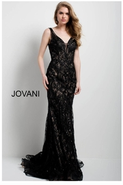 Jovani PROM Black Lace Gown - Product Mini Image