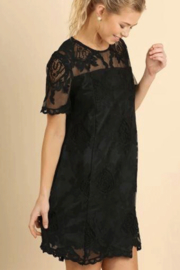 Umgee Black Lace Shift Dress - Product Mini Image